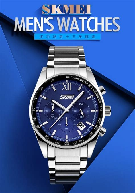 Skmei Casual Water Resistant 30m 9106 Blue skmei casual stainless water resistant 30m