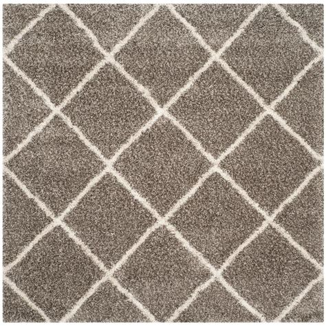 5 foot square rug safavieh hudson shag gray ivory 5 ft x 5 ft square area rug sgh281b 5sq the home depot