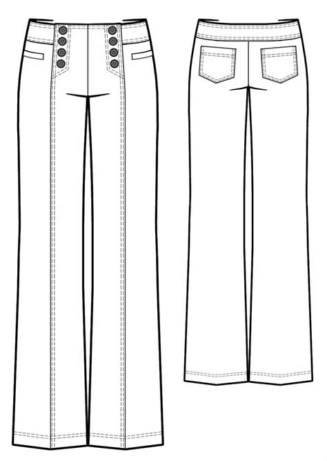 Pants With Decorative Closure - Sewing Pattern #5742. Made