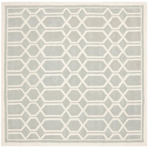 5 foot square rug safavieh chatham grey ivory 5 ft x 5 ft square area rug cht725e 5sq the home depot