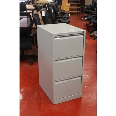 Used Drawer used bisley 3 drawer lockable filing cabinet