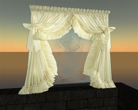 romantic curtains second life marketplace romantic curtain white