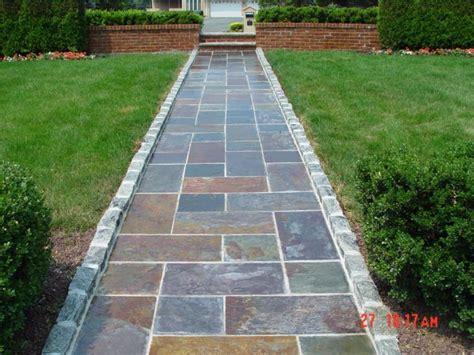 slate walkway with belgian block border new jersey masonry contractor