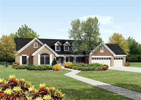 cape cod ranch house plans house plan 95812 cape cod country ranch traditional plan with 2322 sq ft 4