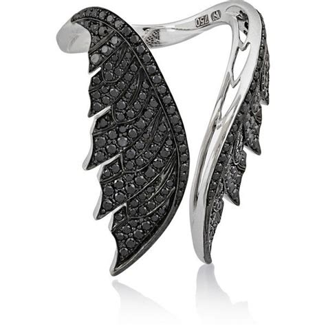 Black Jewelry by Stephen Webster Magnipheasant Open Wing 18 Karat White