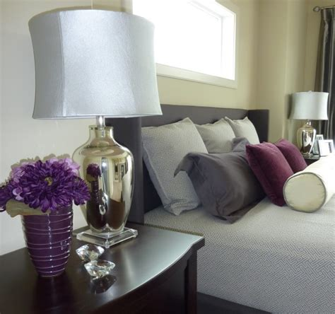 purple and olive green bedroom again with the color scheme love the purples and grey