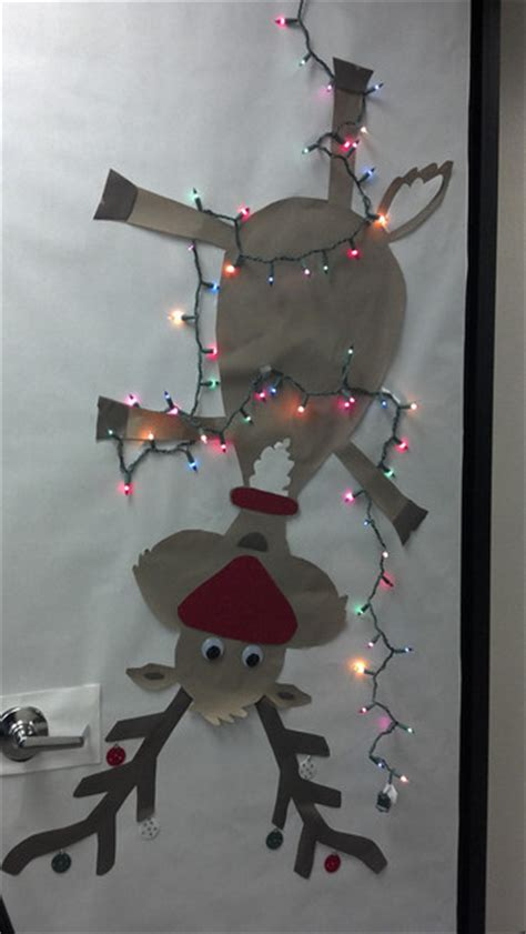 best christmas door decoration winners flamingos and door decorating contest