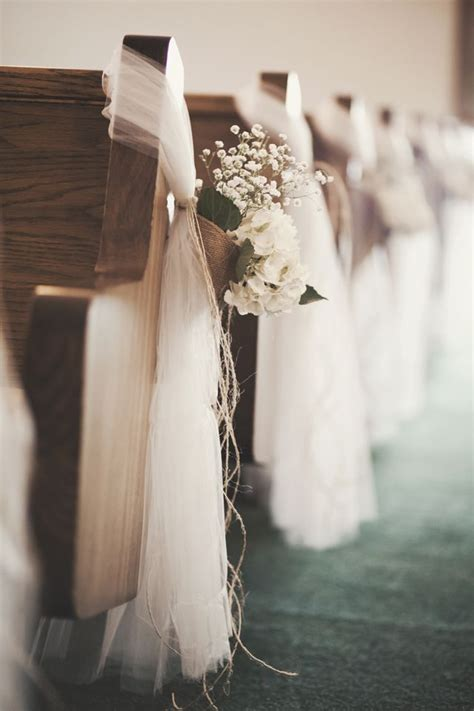 Wedding Pew Decorations by Burlap And Baby S Breath The Wedding Post Of Arkansas