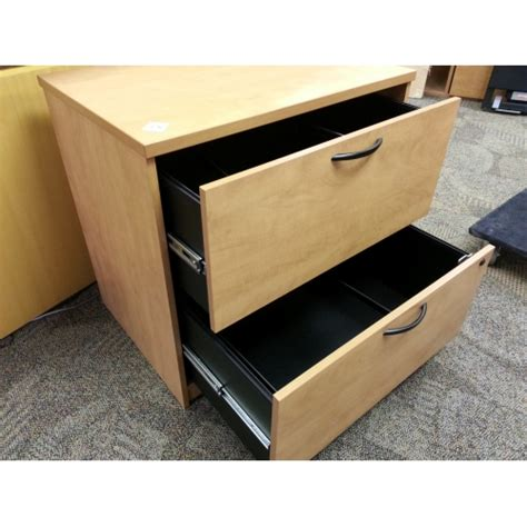 2 Drawer Wood Lateral File Cabinet With Lock by Sugar Maple Wood 2 Drawer Lateral File Cabinet Locking