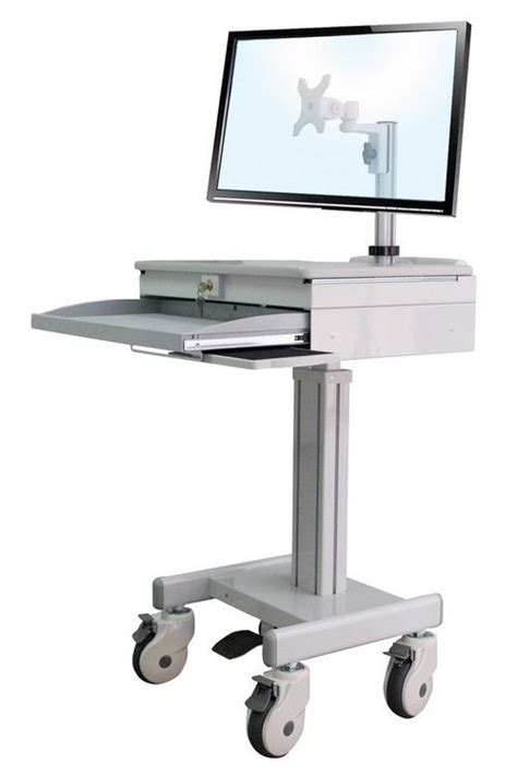 Computer Cart Desk Cuzzi D Med1 Computer Cart Height Adjustable Storage Ebay