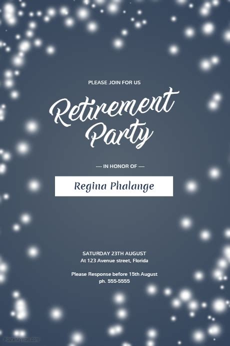 retirement flyer template retirement flyer template postermywall