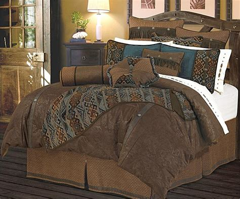 del rio faux tooled leather chocolate comforter set
