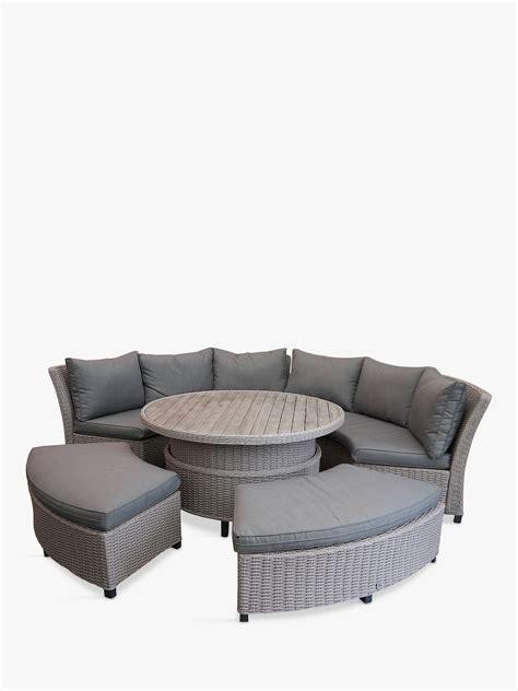 lg outdoor oslo  seat modular curved garden table