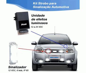 Lu Strobo d249 kit strobo para sinaliza 231 227 o automotiva