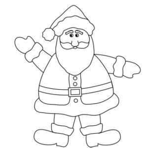 blank santa coloring page santa coloring pages 27 coloring kids