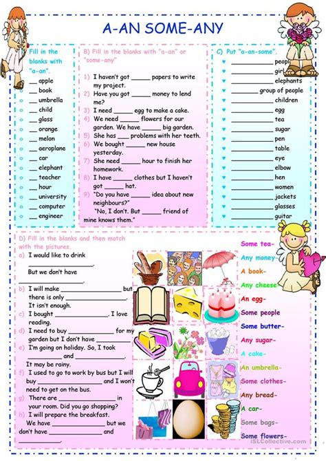 esl some and any worksheets a an some any worksheet free esl printable worksheets made by teachers