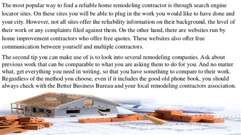 find the right home improvement contractor