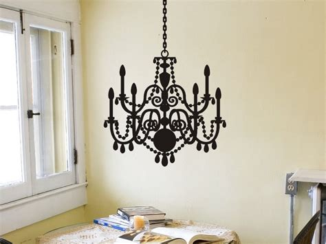 Chandelier Decals For Walls Chandelier Wall Sticker Chandelier Wall Decal Removable Vinyl