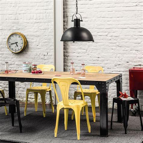 table industrielle maison du monde style industriel maison du monde