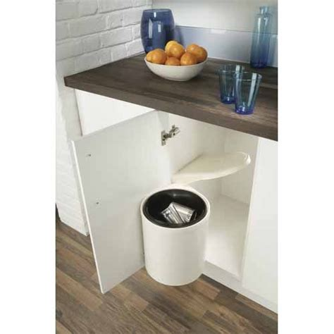 Door Mounted Trash Can With Lid by Hafele Door Mounted Swing Out Kitchen Bin Kitchens Mitre 10