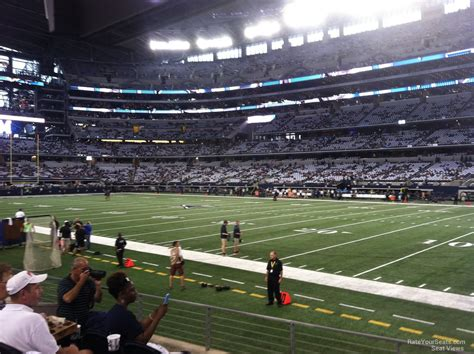 section 8 dallas at t stadium section 129 dallas cowboys rateyourseats com