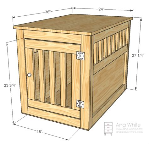 Diy how to build a wooden dog crate plans free
