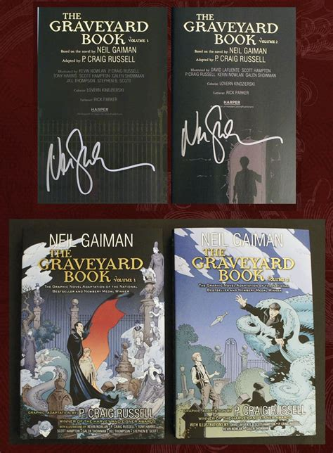 The Graveyard Book Graphic Novel Single Volume the graveyard book graphic novel two volumes both signed by p craig neil