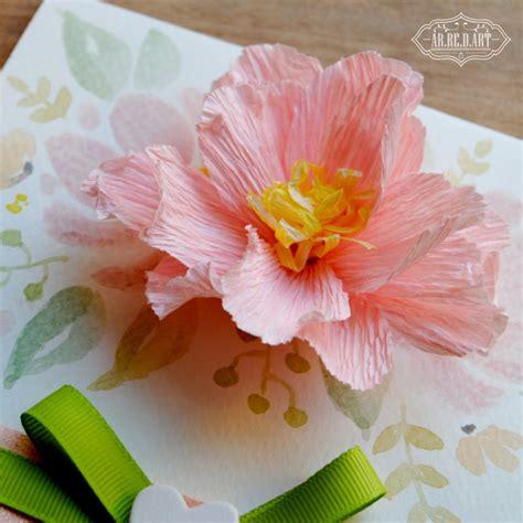 fiori con cartoncino biglietto in cartoncino con fiore di carta applicato