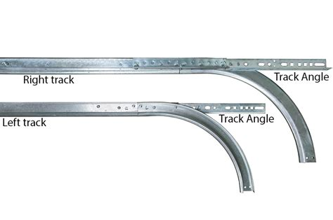 Garage Door Horizontal Track 2 Quot Horizontal Track W 12 Quot Radius 075 For 7 Door Pair