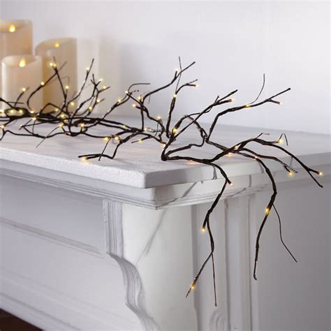 lighted garland for mantle pre lit branch garland the green head
