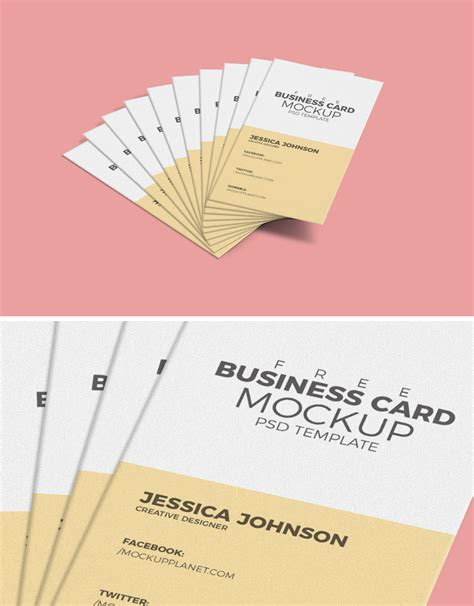 card free mockup template free business card mockup template dribbble graphics