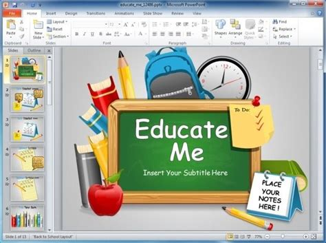 Animated Back To School Powerpoint Template Powerpoint Templates For Teachers Free