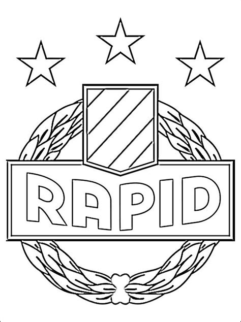 emblem of sk rapid wien coloring page coloring pages
