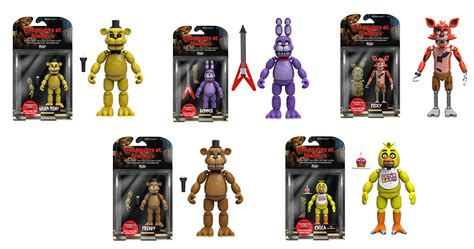 5 nights at freddy s toys five nights at freddy s by funko complete set 5