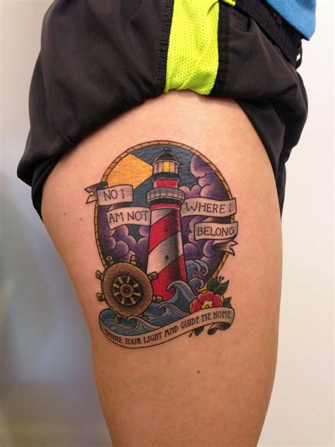 ross tattoos lighthouse by joshua ross at mind s eye in