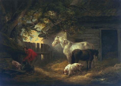 the way back the paintings of george a weymouth a brandywine valley visionary books a farmyard painting by george morland