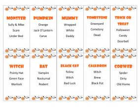 Printable halloween taboo game cards by pamspartyprintables
