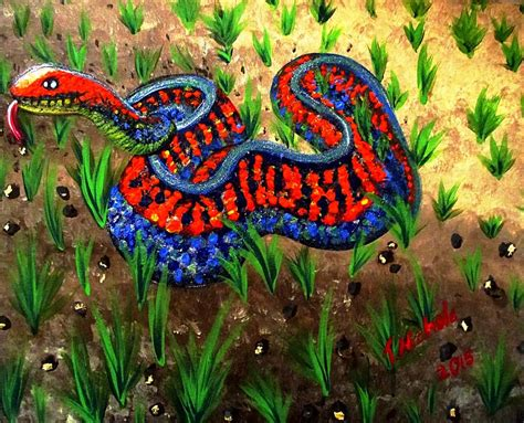Colorado Home Decor by California Red Sided Garter Snake Painting By Teressa Nichole