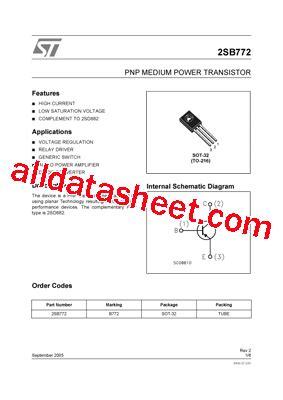 b772 datasheet pdf stmicroelectronics