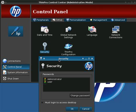 resetting hp thin client to factory defaults how to configure global network settings in hp thin client