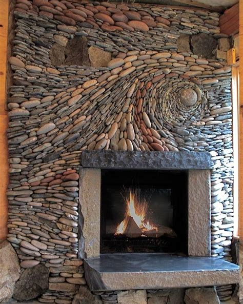 Tiling Ideas Bathroom magnificent rock fireplace with art deco touch and stone