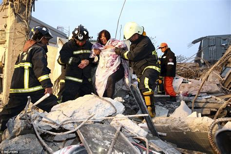 Earthquake Rescue Jacket by Taiwan Earthquake Leaves Hundreds Of Feared