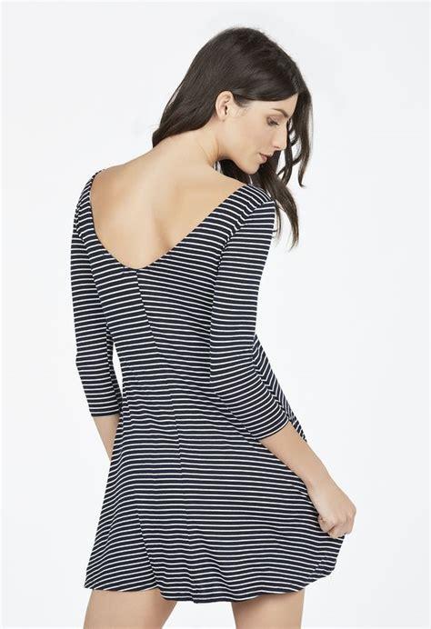 kleidung swing swing knit dress kleidung in navy white g 252 nstig kaufen