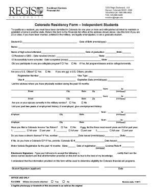 Credit Form 8932 colorado residency form regis fill