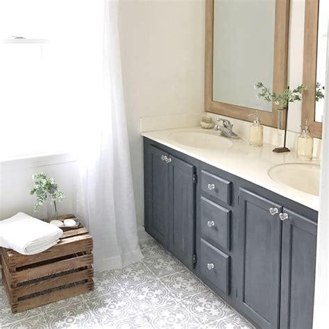 cement tile bathroom plum pretty decor design co how to paint your linoleum