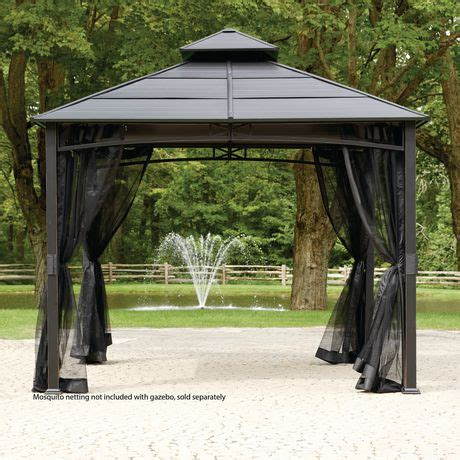 hometrends hard top square gazebo | walmart canada