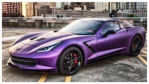 corvette purple matte black corvette 2015 2017 2018 best cars reviews