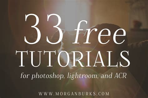 tutorial photoshop free 33 free tutorials for photoshop lightroom and acr morgan