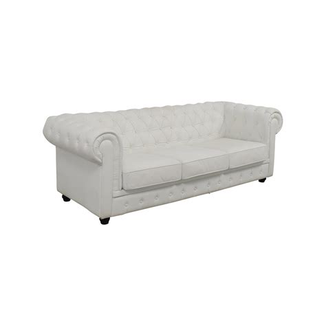 Chesterfield White Leather Sofa 89 Chesterfield White Tufted Leather Sofa Sofas