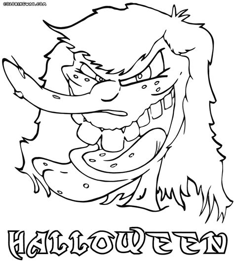 spooky tree coloring page halloween spooky tree sheets coloring pages